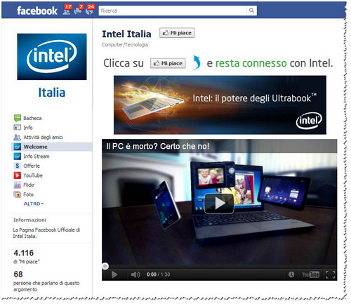 Intel Italia Facebook