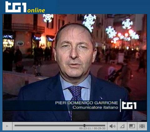 Pier Domenico garrone al TG1