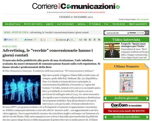 Pier Domenico Garrone su Corriere Comunicazioni